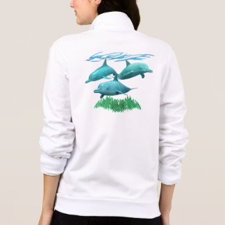 Swimming Dolphins Printed Jackets