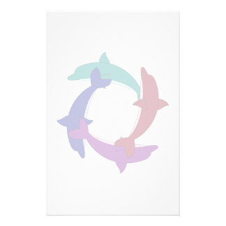 Swimming Dolphins Stationery