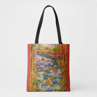 Swimming Down the River Tote Bag