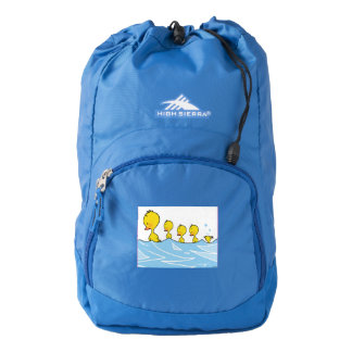 Swimming duck family backpack