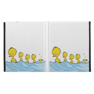 Swimming duck family iPad case