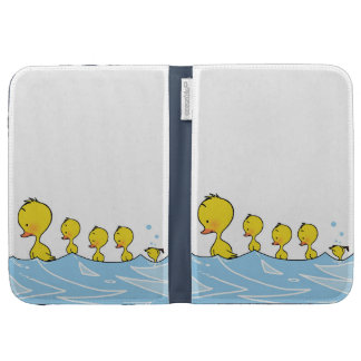 Swimming duck family kindle cases