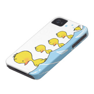 Swimming duck family iPhone 4 Case-Mate case