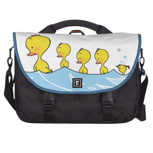 Swimming duck family computer bag