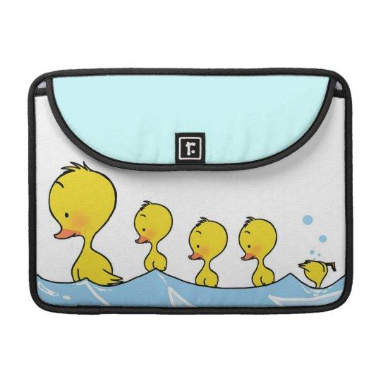 Swimming duck family sleeves for MacBooks
