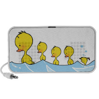 Swimming duck family iPod speakers