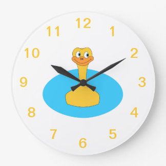 Swimming Duck. Large Clock