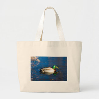Swimming Duck Large Tote Bag