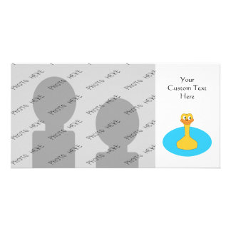 Swimming Duck Photo Greeting Card