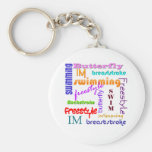 Swimming Everywhere Basic Round Button Key Ring