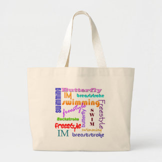 Swimming Everywhere Large Tote Bag