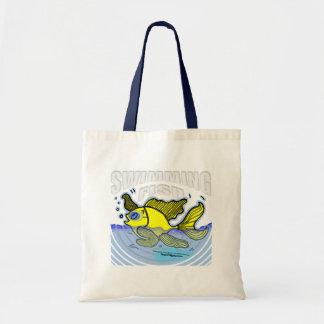 Swimming Fish Canvas Bag