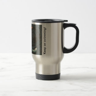 Swimming fish coffee mug