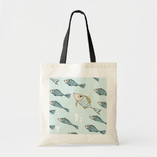 Swimming fish tote bag