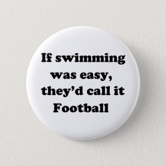 Swimming Football 6 Cm Round Badge