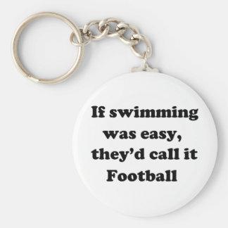 Swimming Football Key Ring