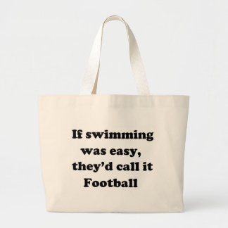 Swimming Football Large Tote Bag