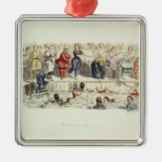 Swimming for Ladies, 1844 (litho) Christmas Ornament