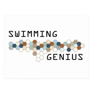 Swimming Genius Postcard