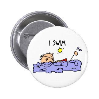 Swimming Gift 6 Cm Round Badge
