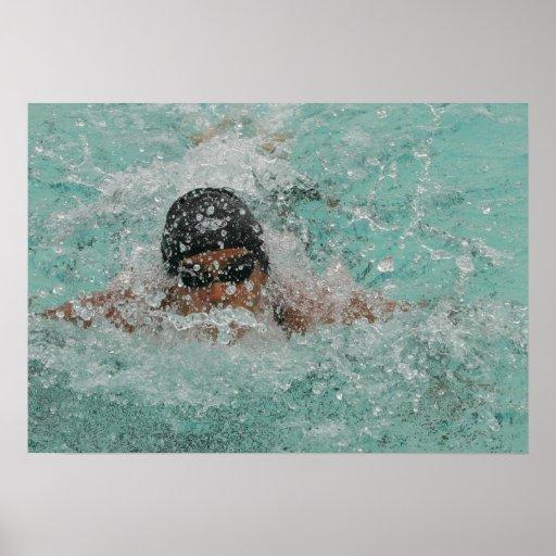 "Swimming Girl 28"" x 20"",Value Poster Paper (Matte)"