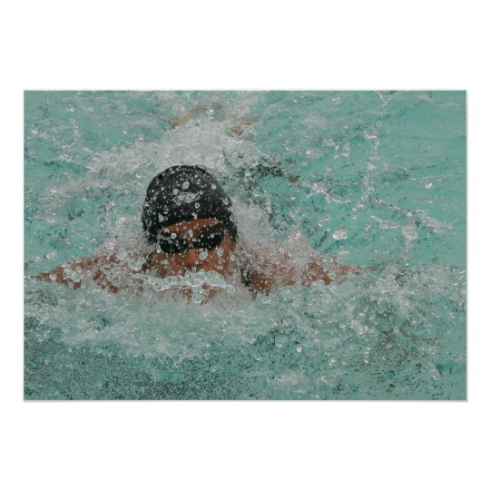 "Swimming Girl 28"" x 20"",Value Poster Paper (Matte)"