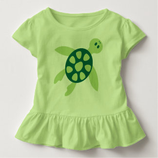 Swimming Green Turtle Art Toddler T-Shirt