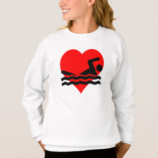 Swimming Heart Sweatshirt