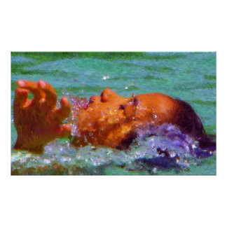 """Swimming"" - High Definition - Luxury Poster"