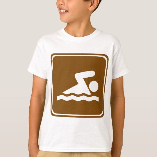 Swimming Highway Sign T-Shirt