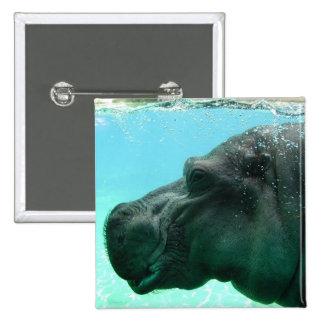 Swimming Hippo Button