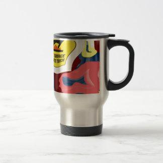 Swimming Hot Surface Stainless Steel Travel Mug