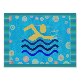 Swimming:  Hot Times Cool Mind Poster