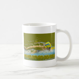 Swimming illustration coffee mugs