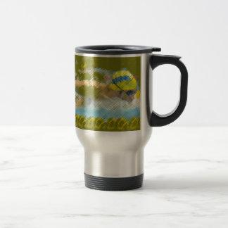 Swimming illustration mug