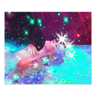 Swimming in a cosmic dream photo print