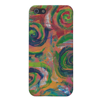 Swimming In Swirls- Red/Pink Case For The iPhone 5
