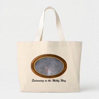 Swimming in the Milky Way Jumbo Tote Bag