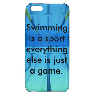 Swimming is a sport phone case