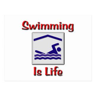 Swimming Is Life Postcard
