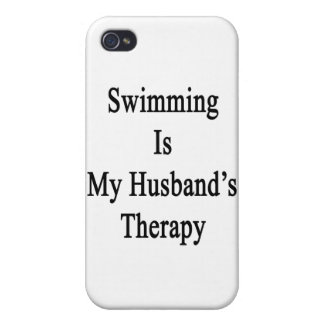 Swimming Is My Husband's Therapy Covers For iPhone 4