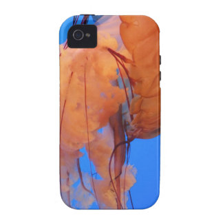 Swimming Jellyfish iPhone 4 Case-Mate Tough Case Case For The iPhone 4