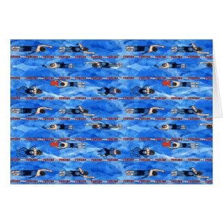 Swimming Laps Notecard