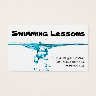 Swimming Lessons Business Card
