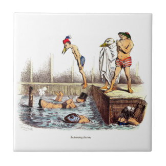 Swimming Lessons Small Square Tile