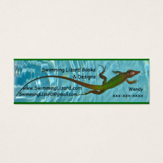 Swimming Lizard contact cards - copy