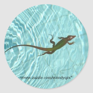Swimming Lizard stickers