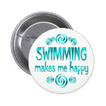 Swimming Makes Me Happy Buttons