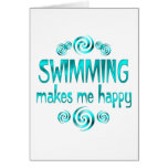 Swimming Makes Me Happy Greeting Cards