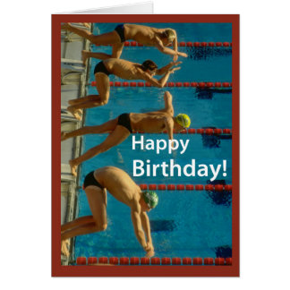 Swimming Men's Birthday Card